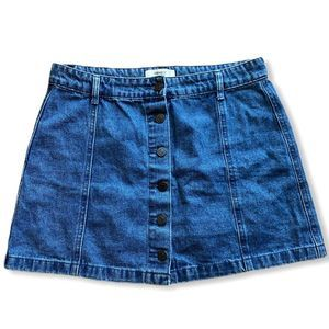 Forever 21 Button-Up Flare Mini Skirt